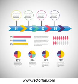 infographic business diagram with information strategy