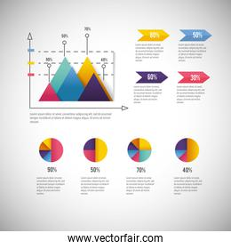infographic business diagram with data information