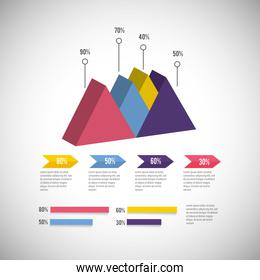 isometric infographic business diagram information