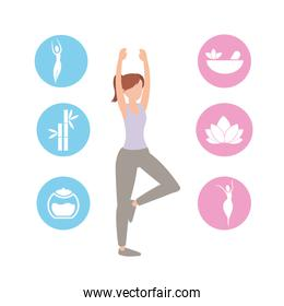healthy woman training sport exercise