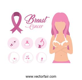 breast cancer woman illness with treatment