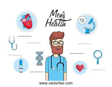 doctor treatment with medical diagnostic consulting