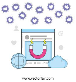global website with cloud media information