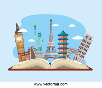 book with international travel place destination