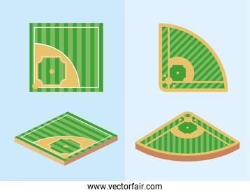 set baseball sport game field competition