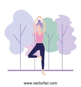 relax woman practice exercise posture