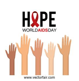 hands up to world aids day