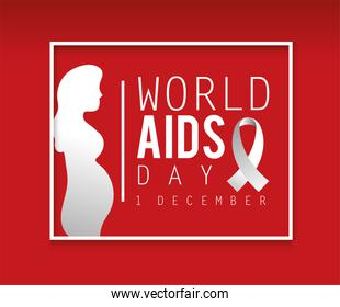 pregnant woman to world aids day