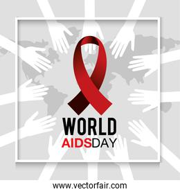 red ribbon to world aids day protection