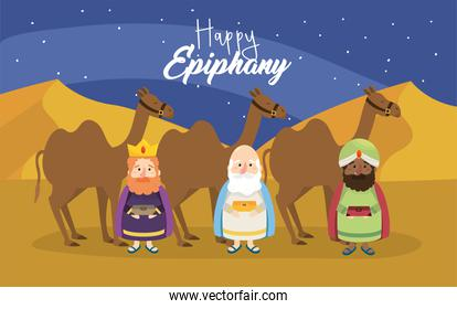 king magicians with camels to happy epiphany