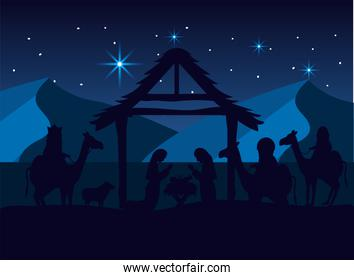 magicians kings with mary and joseph with jesus