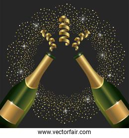 champagne bottles to celebrate new year