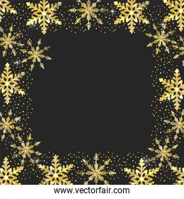 star with flakes decoration to new year event