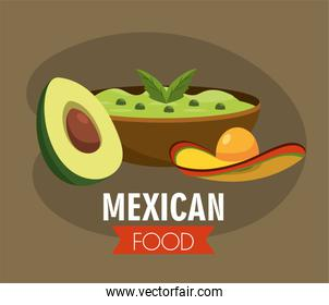 mexican avocado sauce with traditional hat