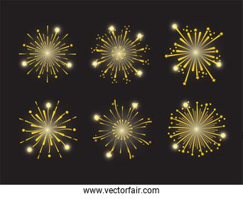 set firework night decoration to holiday