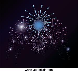 firework explosion night decoration to event