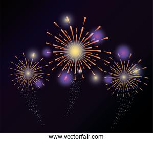 firework explosion night decoration to holiday