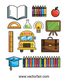 set education supplies to back school knowledge