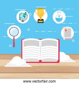 elearning education book with study certificate