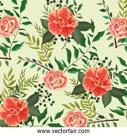 exotic roses plants with leaves wallpaper