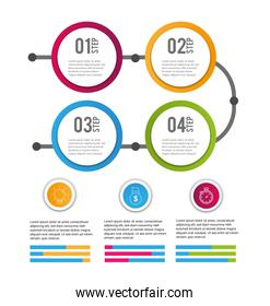 data infographic business information success