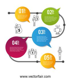 infographic business data report information