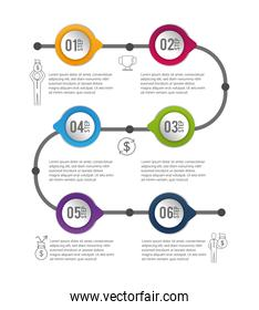 infographic business data process information
