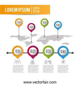 infographic business project data information