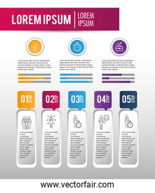 business infographic strategy project success