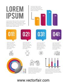 infographic business project and strategy plan