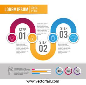 infographic project with business strategy plan