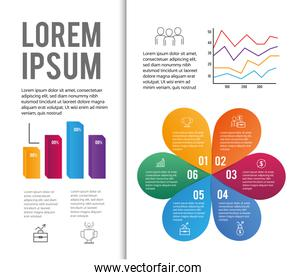 data infographic with diagram business information