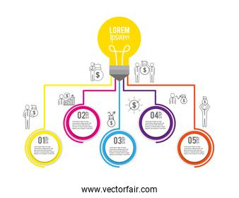 bulb infographic business strategy plan