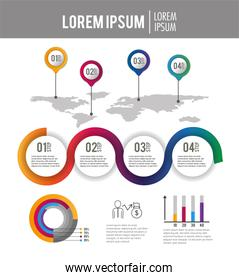 business infographic process strategy report