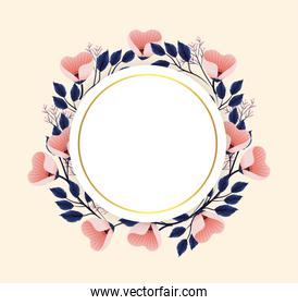 circle flowers plants with circle label