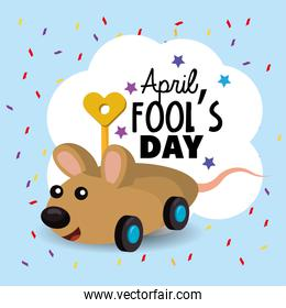 funny mouse toy to fools day