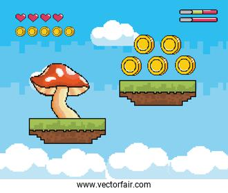 fungus with coins and heart life bars