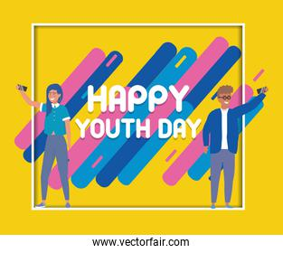 happy youth day poster celebration