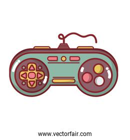 videogame console control with button design