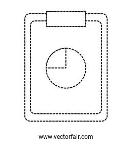 dotted shape clipboard statistics bag graphic diagram