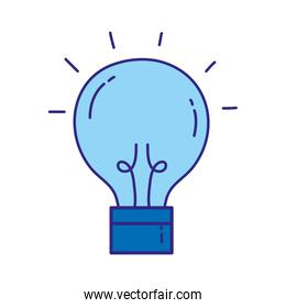 duo color creative light bulb idea invention
