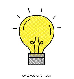 doodle creative light bulb idea invention