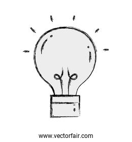 grunge creative light bulb idea invention