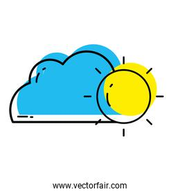 moved color nature cloud and sun weather design