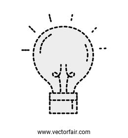 dotted shape creative light bulb idea invention