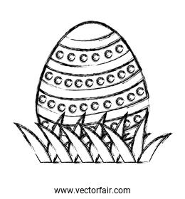 grunge egg easter with points figures decoration