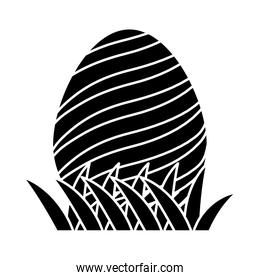 silhouette egg easter with spirals figures decoration