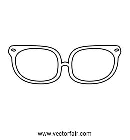 line optical glasses object with frame style