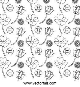 grunge beauty flowers with petals backgroud decoration