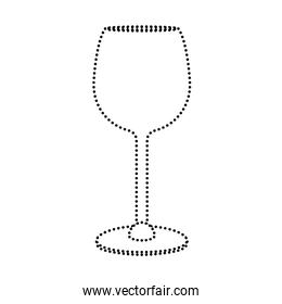 dotted shape crystal glass object to drink wine